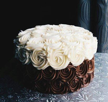 Picture of Choco Vanilla Rose Cake