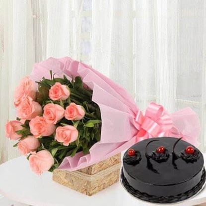 Picture of Cake and Flower Combo 1